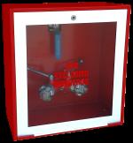 Cofre de superficie IPF-40 rojo / puerta acistalada blanca